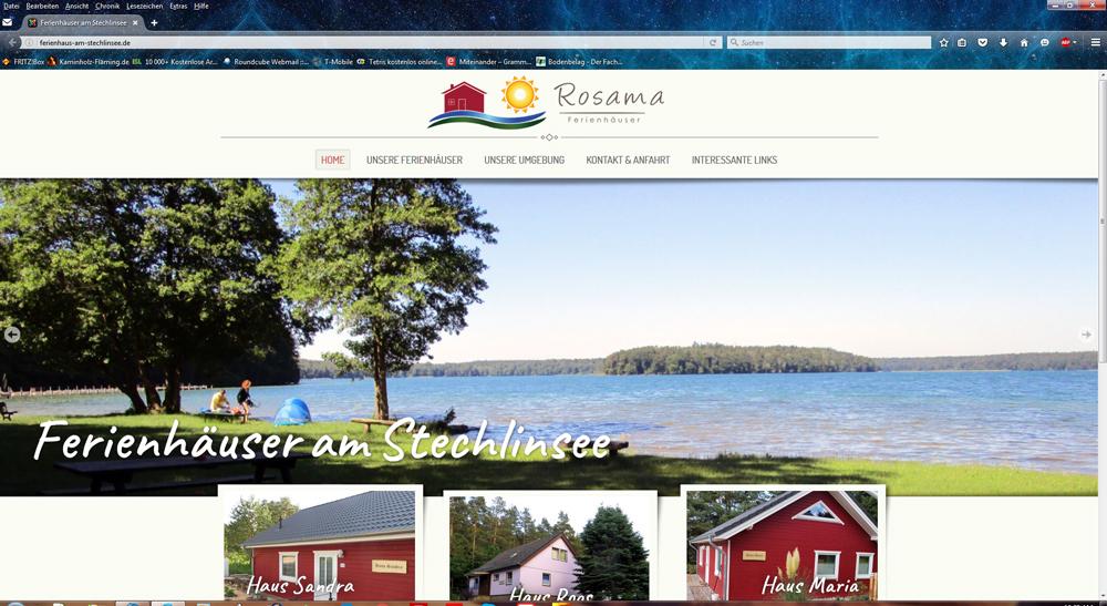Rosama - Ferienhäuser am Srechlinsee